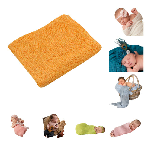 TANGERINE - Newborn Baby Photography Photo Prop Stretch Wrap