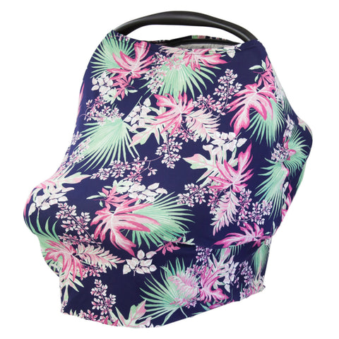 TROPICAL PALM - Multi Use Baby Car Seat Canopy and Nursing Cover