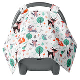 Canopy Car Seat Cover - Woodland Animals