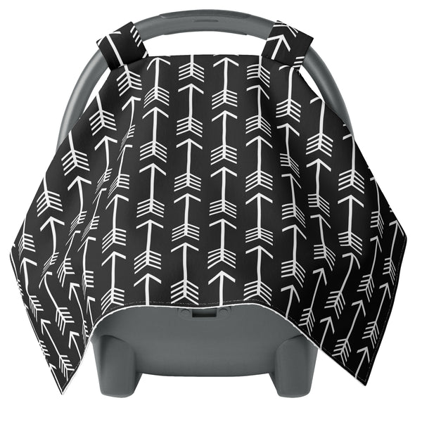 Black and White Arrow Carseat Canopy