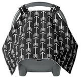 Canopy Car Seat Cover - Black White Arrows