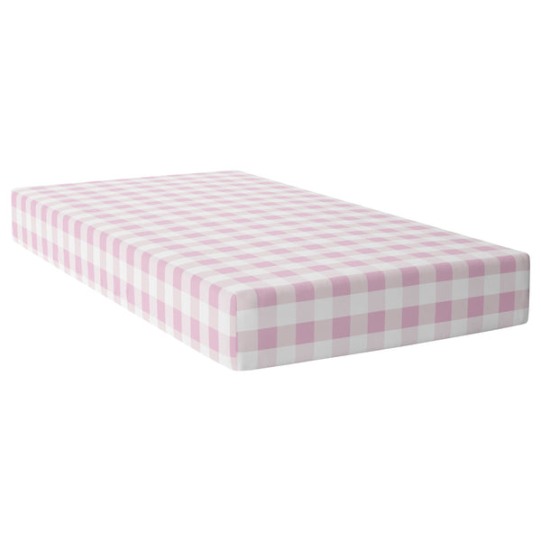 Pink Plaid Crib Sheet