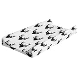 Changing Pad Cover - Black White Buck