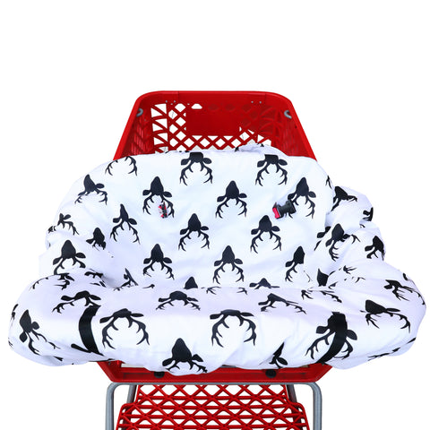 Shopping Cart Cover - Black White Buck