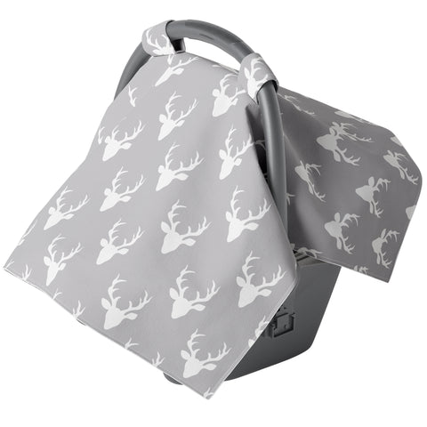 Canopy Car Seat Cover - Gray Buck