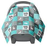 Canopy Car Seat Cover - Wild Mountains