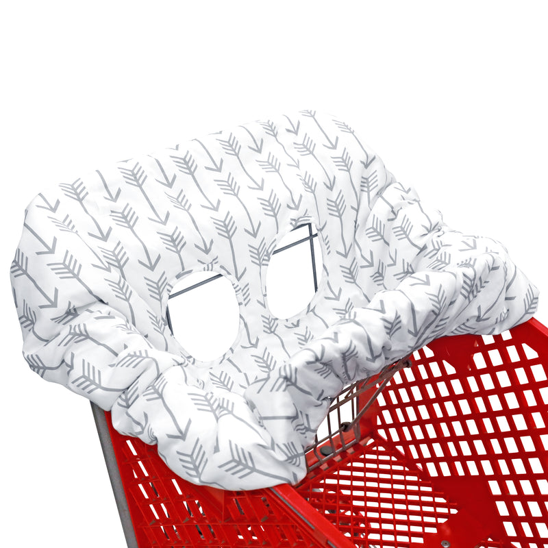 Shopping Cart Cover - Gray Arrows