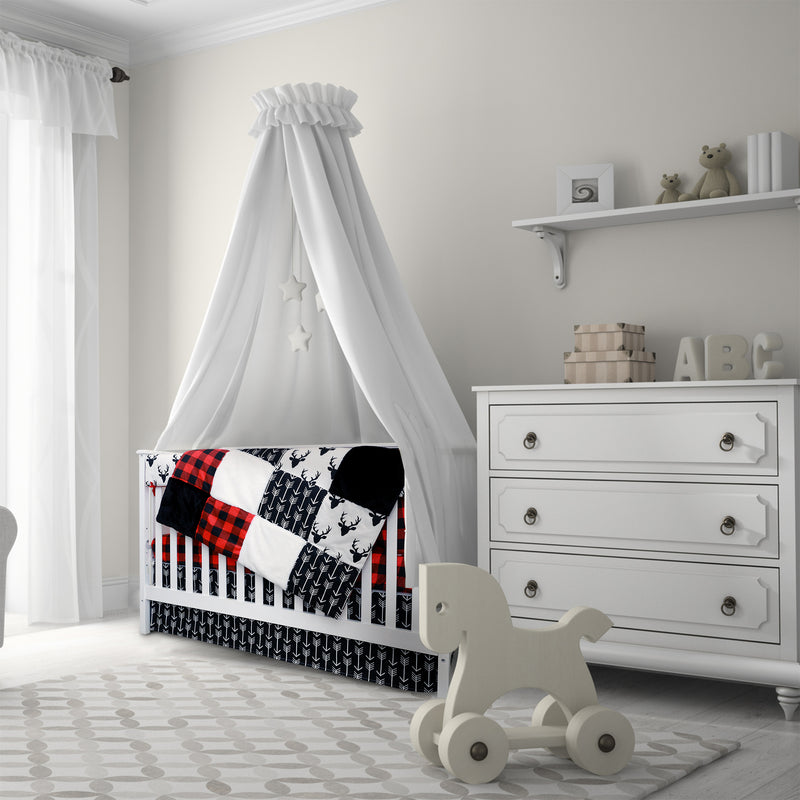 4 Pc Crib Bedding - Woodland Collection