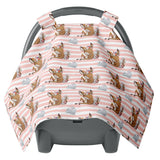 Peach Stripes Carseat Canopy