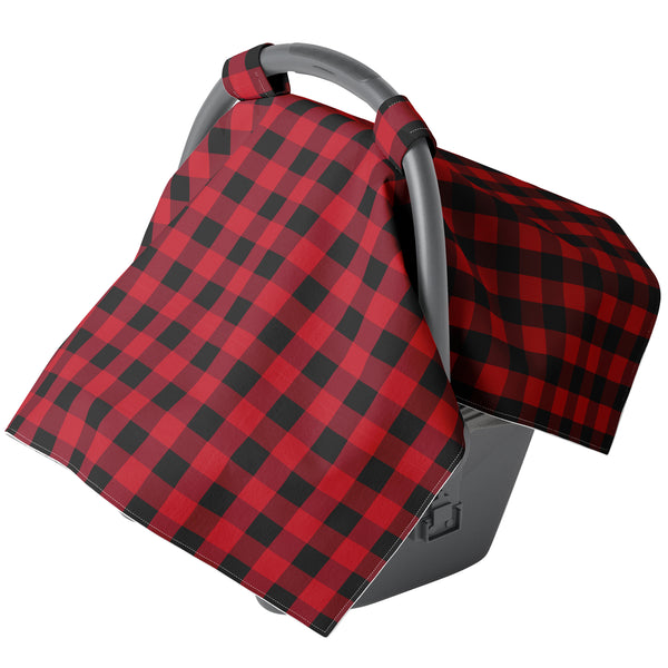 Red Plaid Carseat Canopy