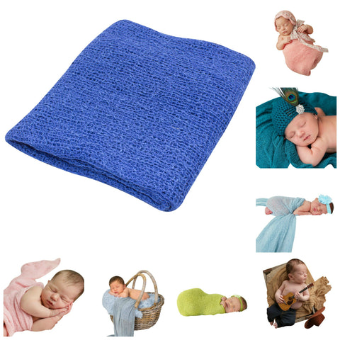 ROYAL BLUE - Newborn Baby Photography Photo Prop Stretch Wrap