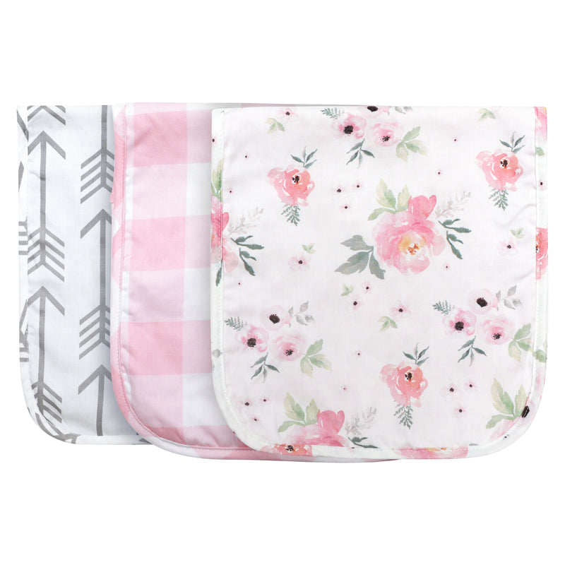 Floral Burp Cloths