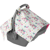 Canopy Car Seat Cover - Unicorn Floral