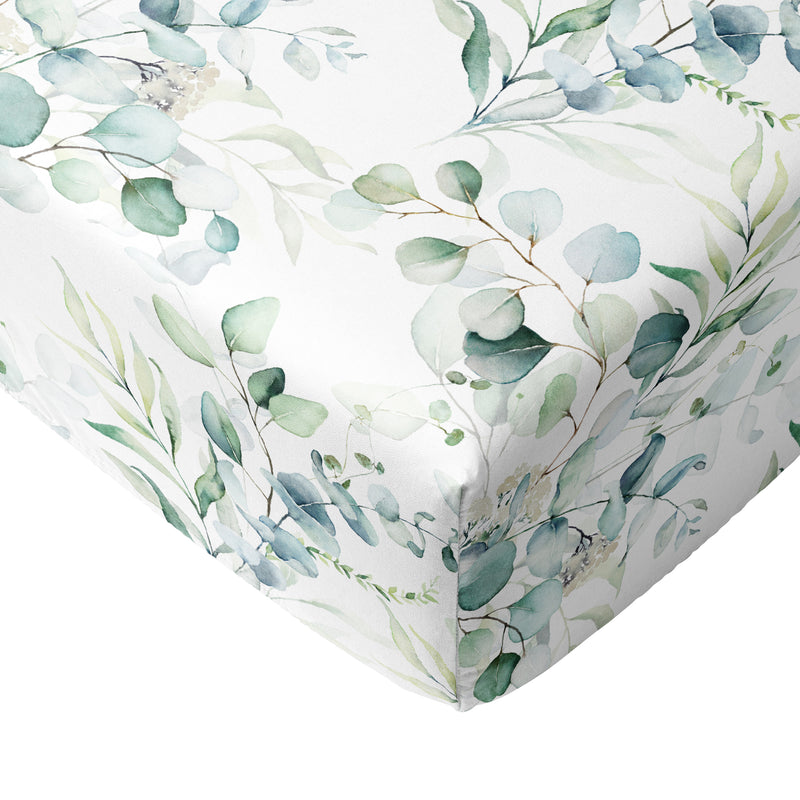 Crib Sheets 100% Cotton Fitted Crib Sheet Set Perfect for Baby  Fits Standard Toddler Mattress Greenery