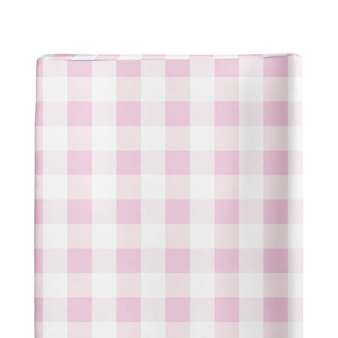 Pink Plaid Changing Pad Cover