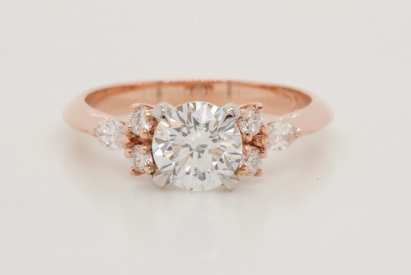 Rose gold and Platinum Engagement ring