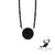 18ct white gold black diamond pendant and necklace