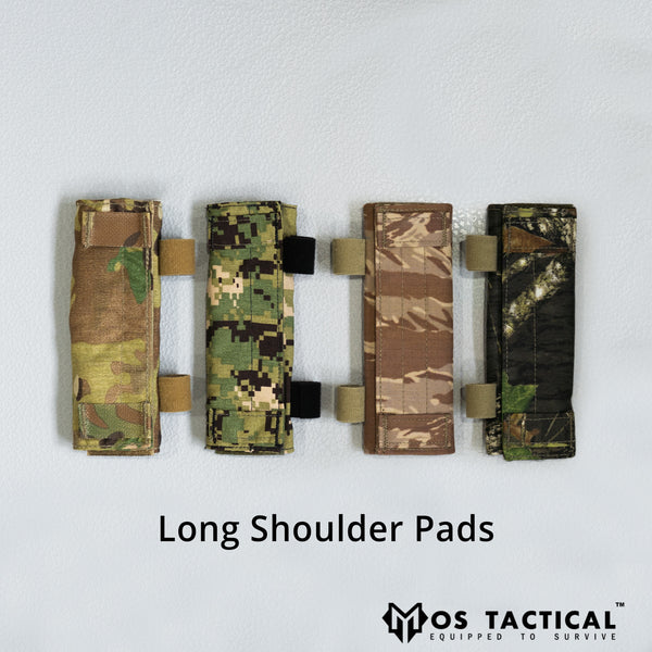 Long Shoulder Pads - Comm Loops & Lapel Tabs
