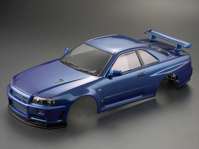 Killerbody 1/10 48716 NISSAN SKYLINE (BNR34)  Finished Body Metallic-blue