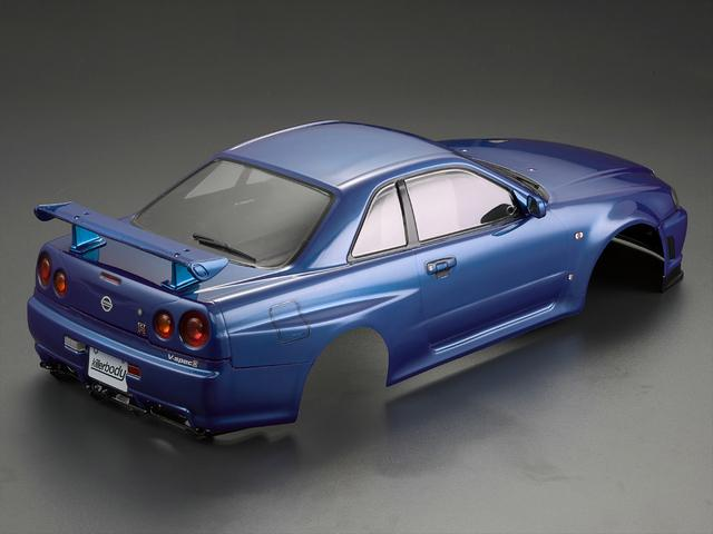 Killerbody 1/10 48716 NISSAN SKYLINE (BNR34)  Finished Body Metallic-blue( Pre-order)
