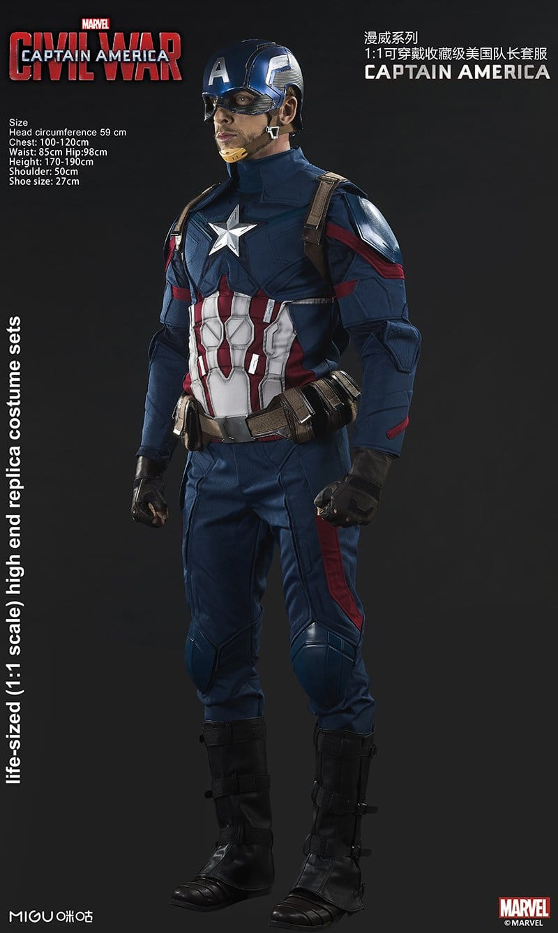 1:1 Captain America Costume Civil War Marvel Licensed( in stock now!)