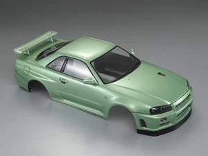 1/10 NISSAN SKYLINE (BNR34)  Finished Body Champagne-green