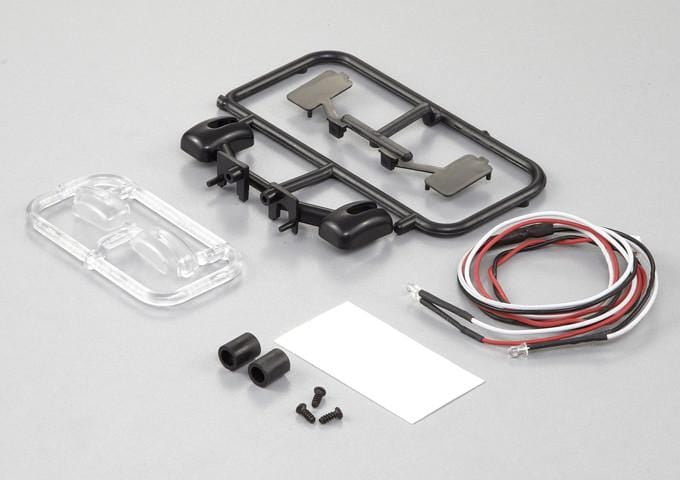 Wing Mirror W/LED Unit Set( Fit for 1/10 RC Truck)
