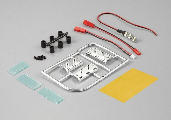 Number Plate W/LED Unit Set( Fit for 1/10 RC Car)
