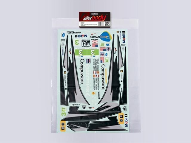 Decal Sheet for Rally Racing for 1/10 Corvette GT2