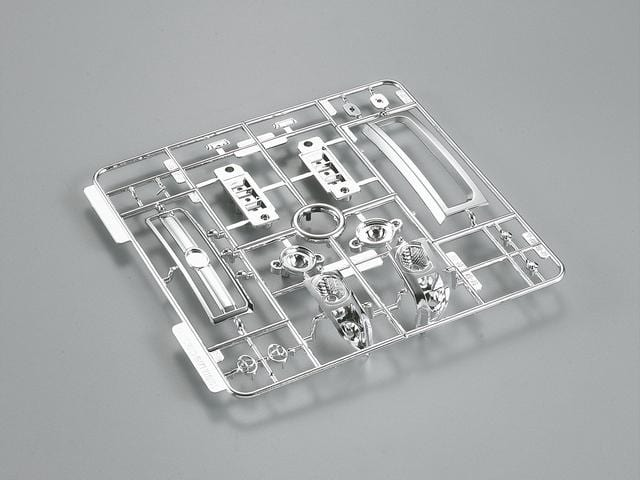 Chromed Parts Set  Hard Plastic 1/10 Toyota Land Cruiser 70