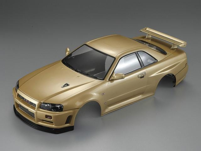 Killerbody 1/10 48645 NISSAN SKYLINE (BNR34)  Finished Body Champagne-gold( Only 1 in stock!)