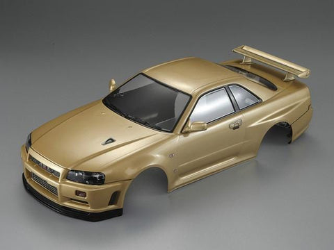 1/10 NISSAN SKYLINE (R34)  Finished Body Champagne-gold