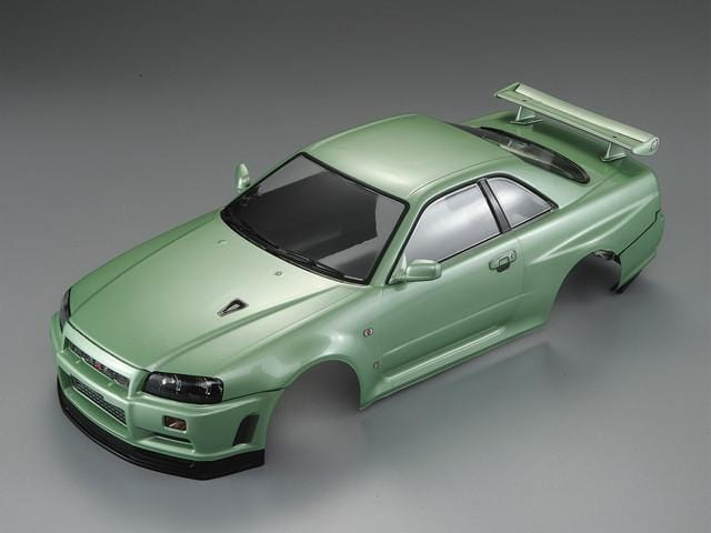 Killerbody 1/10 48646 NISSAN SKYLINE (BNR34)  Finished Body Champagne-green