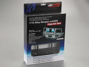 Alloy Bumper w/LEDS Upgrade Sets Matt-black Fit for 1/10 Truck and SUV