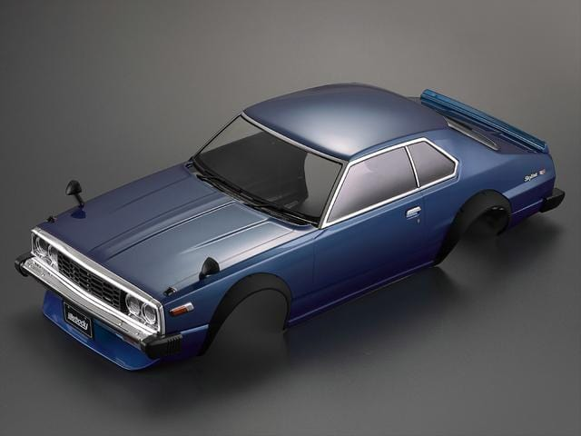 1977 Skyline Hardtop 2000 GT-ES Finished Body Blue (Printed)