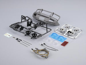 1/10 Alloy Bumper w/LEDS Upgrade Sets Silver-grey Traxxas TRX-4 chassis
