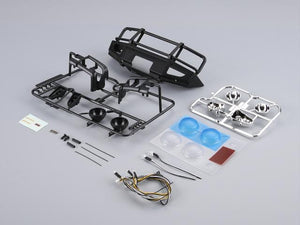 1/10 Alloy Bumper w/LEDS Upgrade Sets Matt-black Traxxas TRX-4 chassis