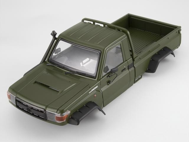 1/10 Toyota Land Cruiser 70 Hard Body Kit( LC70) Fit for Traxxas TRX4 Matte military green (painted)( Pre order)
