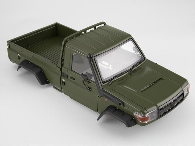 1/10 Toyota Land Cruiser 70 Hard Body Kit( LC70) Fit for Traxxas TRX4 chassis Matte military green (painted)