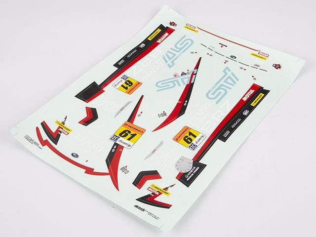Racing Decal Sheet SUBARU BRZ R&D SPORT