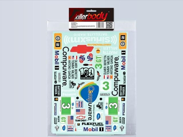 Decal Sheet for Rally Racing for 1/7 Corvette GT2