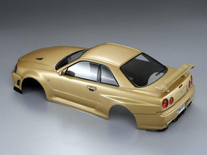 1/10 NISSAN SKYLINE (BNR34)  Finished Body Champagne-gold( Pre-order)
