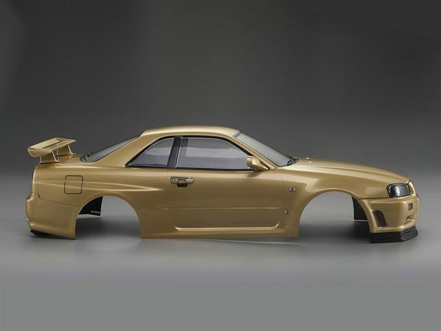 1/10 NISSAN SKYLINE (BNR34)  Finished Body Champagne-gold