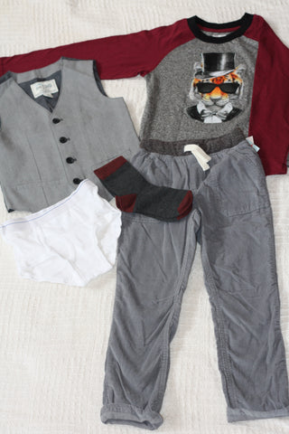 Size 5T boys outfit #3   Fall/winter