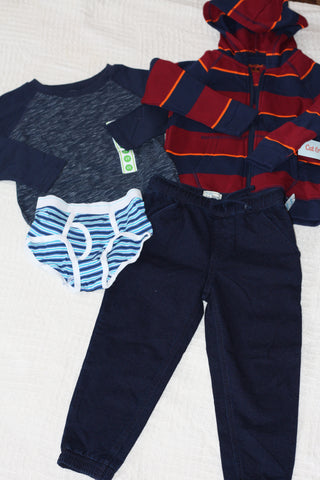 Size 5T boys outfit #4.  Fall/winter.