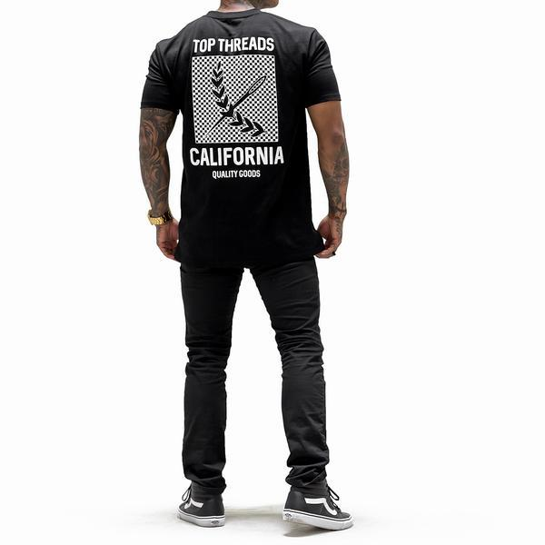 California Tee - (Black/White)
