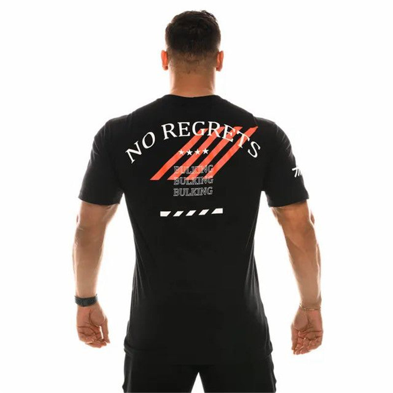 .No Regrets Gym Seamless Short Sleeve - Black