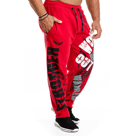 .Warrior Statement Joggers - Red