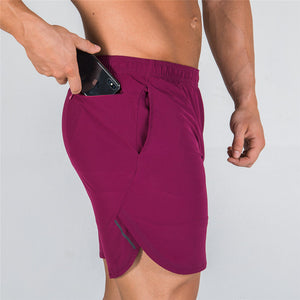 A2-IN-1 Dry Tech Shorts - (Red)