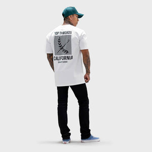 California Tee - (White/Black)